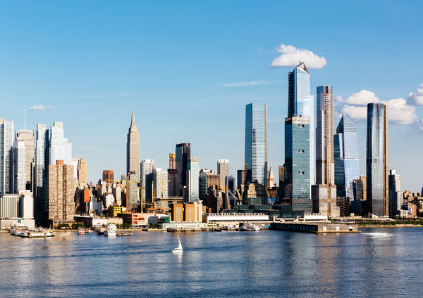 Skyline de Nueva York con Hudson River y Hudson Yards